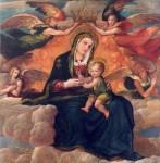 51) Vincenzo Da Pavia Madonna e bambino ol tel 149x144 Cat.II,sched 3 UOZ.zzz