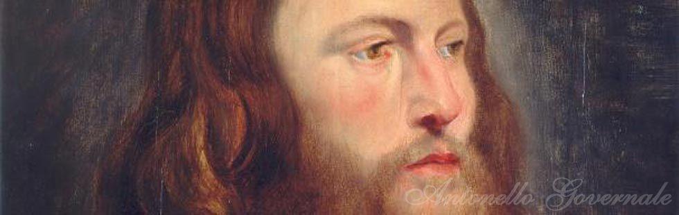 Pieter Paul Rubens attribuito  - Busto di Cristo, olio su tavola  cm. 61,5x46,5.
